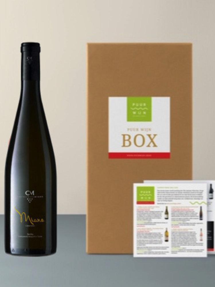 Puur Wijn Sicilië box selectie van 5 verschillende wijnen
