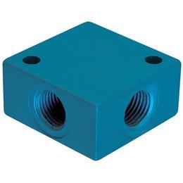 KELMK KELMK - enkele verdeelblokken - aluminium - 4 aansluitingen