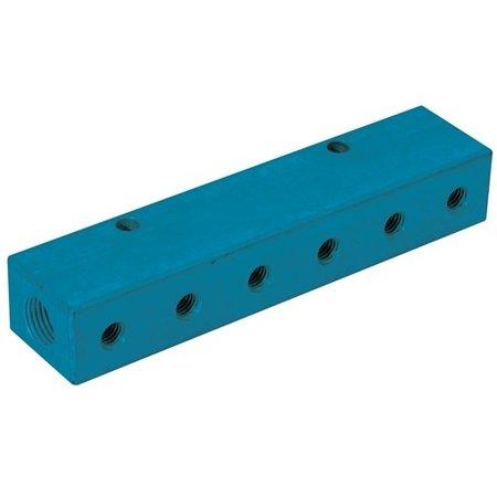 KELMK KELMK - enkele verdeelblokken - aluminium - 3/8'' inlaat - 1/4'' uitgang - BSP female