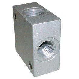 AIGNEP AIGNEP - gelijk verdeelblok - aluminium - 4 aansluitingen