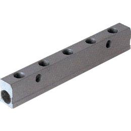 AIGNEP AIGNEP - Enkel verdeelblok - aluminium - 1/4'' Inlaat - 1/8'' Uitgang
