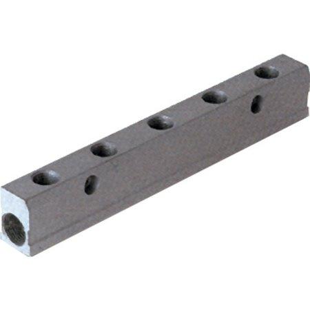 AIGNEP AIGNEP - Enkel verdeelblok - aluminium - 3/8'' Inlaat - 1/4'' Uitgang