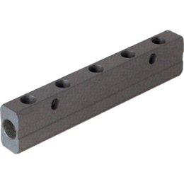 AIGNEP AIGNEP - Dubbel verdeelblok - aluminium - 1/2'' Inlaat - 3/8'' Uitgang