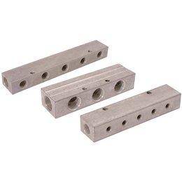 AIR-PRO AIR-PRO - Enkel verdeelblok - aluminium - 1/2'' Inlaat - 1/2'' uitgang