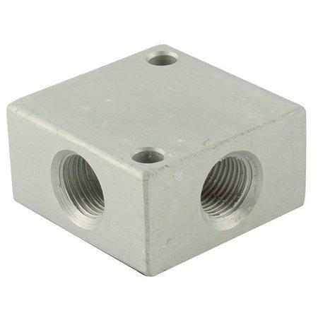 AIR-PRO AIR-PRO - Gelijk verdeelblok - aluminium - 4 aansluitingen