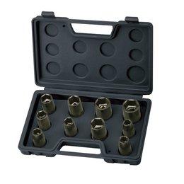 AEROPRO Pneumatisch gereedschap - Toebehoren - 1/2'' slagdopset - metrisch - 10-delige set