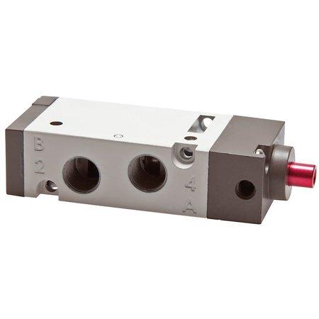"""5/2-weg pneumatisch ventiel 1/4"""" - Veerteruggang"""