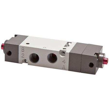 """5/3-weg pneumatisch ventiel 1/4"""" - Middenpositie geventileerd"""