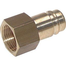 Insteeknippel NW15 | Messing vernikkeld |BI-draad | 5000 l/min