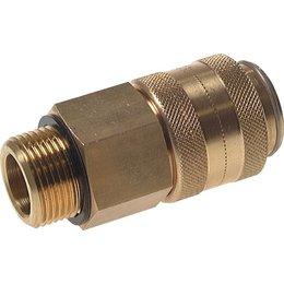 Snelkoppeling NW19 | Messing |BU-draad | 8000 l/min