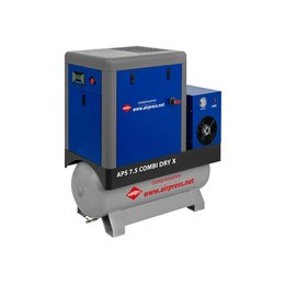 AIRPRESS Schroefcompressor APS7,5-200 COMBI DRY X| 690 Liter/min.