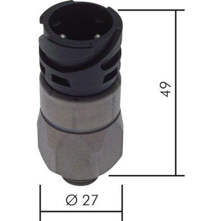 DRUKSCHAKELAAR -  Bajonetaansluiting - tot 200 bar - NC - 1/4''