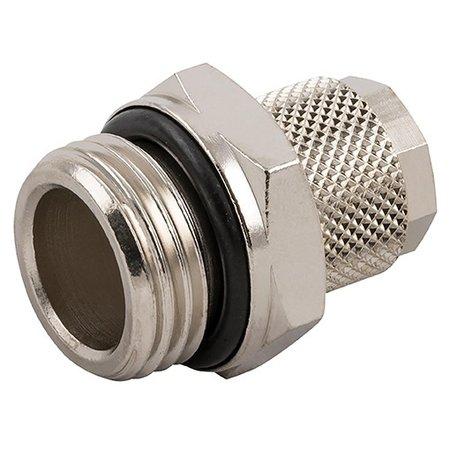 AIGNEP - opsteekkoppeling - messing vernikkeld - rechte inschroef-koppeling - BSPT male met O-ring