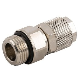 AIGNEP - opsteekkoppeling - messing vernikkeld - rechte inschroef-koppeling - BSPT male met O-ring - draaibaar