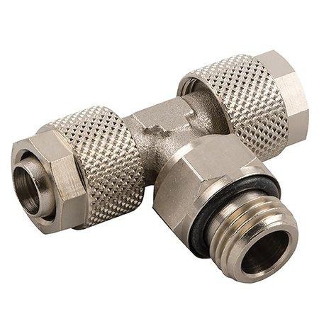 AIGNEP - opsteekkoppeling - messing vernikkeld -  Tee inschroef - BSPT male met O-ring  - draaibaar