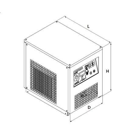 COMPRAG PERSLUCHT KOELDROGER RDX77 - 7,7 m³/min.