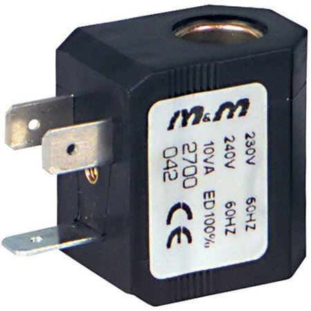 Spoel voor magneetventielen - Serie B zonder stekker rechthoek - DIN 46244