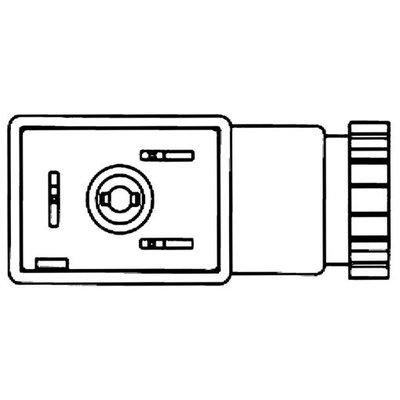 Stekkers voor spoelen magneetventielen - Serie B