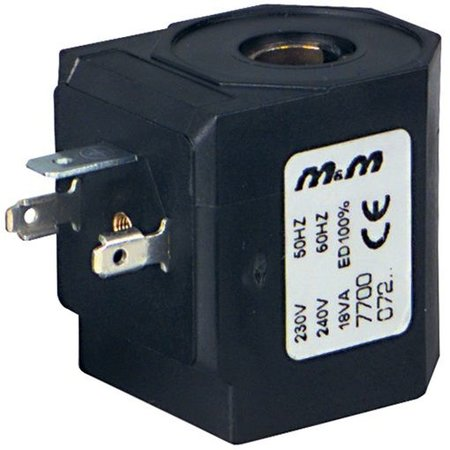 Spoel voor magneetventielen - Serie D zonder stekker rechthoek - DIN 43650A
