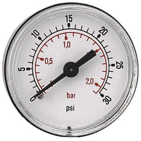 """AIR-PRO Manometers - achteraansluiting Male 1/8"""" - Ø 40 mm ABS kast"""