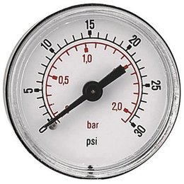 "AIR-PRO Manometers - Male 1/8"" - Ø 50 mm ABS kast"