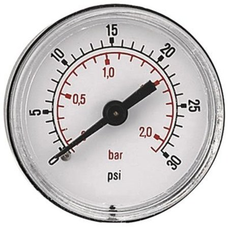 """AIR-PRO Manometers - achteraansluiting Male 1/8"""" - Ø 50 mm ABS kast"""