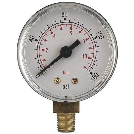 """AIR-PRO Manometers - onderaansluiting Male 1/4"""" - Ø 50 mm ABS kast"""