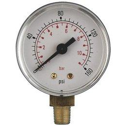 "AIR-PRO Manometers - Male 3/8"" - Ø 100 mm ABS kast"