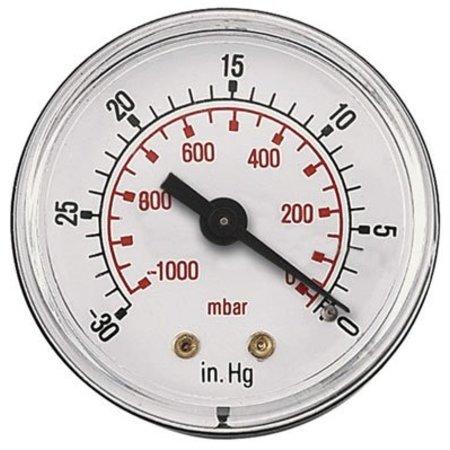 AIR-PRO Vacuümmanometers - achteraansluiting ABS kast