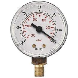 AIR-PRO Vacuümmanometers - onderaansluiting ABS kast