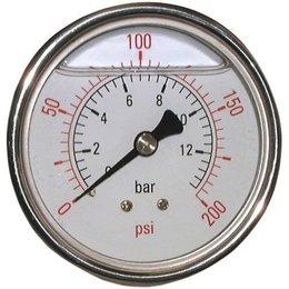 "AIR-PRO Glycerine manometers - Male 1/4"" - Ø 63 mm RVS kast"