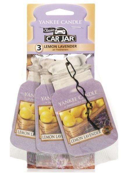 Yankee Candle Car Jar Lemon Lavender 3 pack