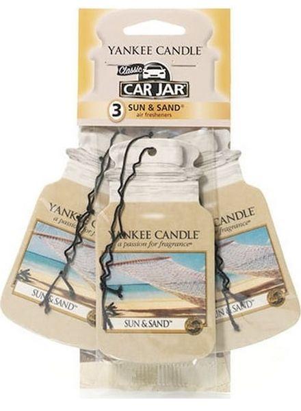 Yankee Candle Car Jar Sun & Sand 3 pack