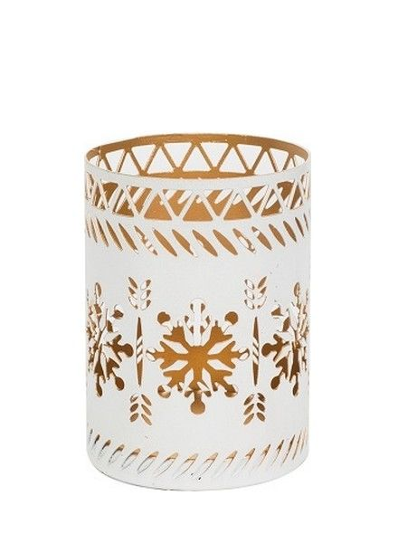 Woodwick WoodWick Petite Candle Holder Snowflake White