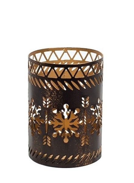 Woodwick WoodWick Petite Candle Holder Snowflake Bronze