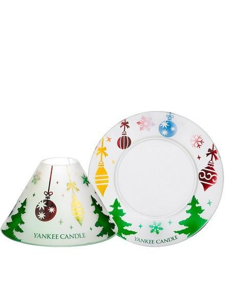 Yankee Candle Deck the Halls Large Shade and Tray