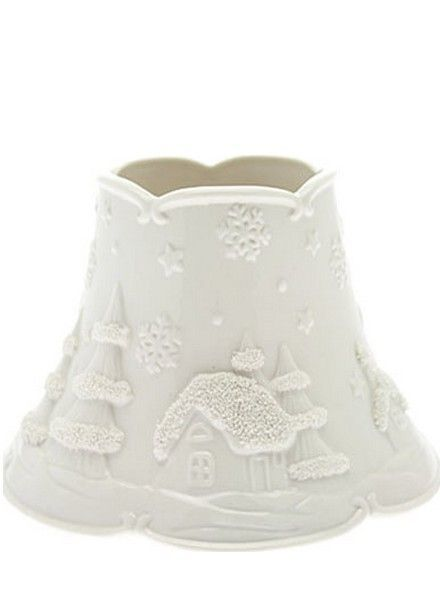 Yankee Candle White Christmas Small Shade and Tray
