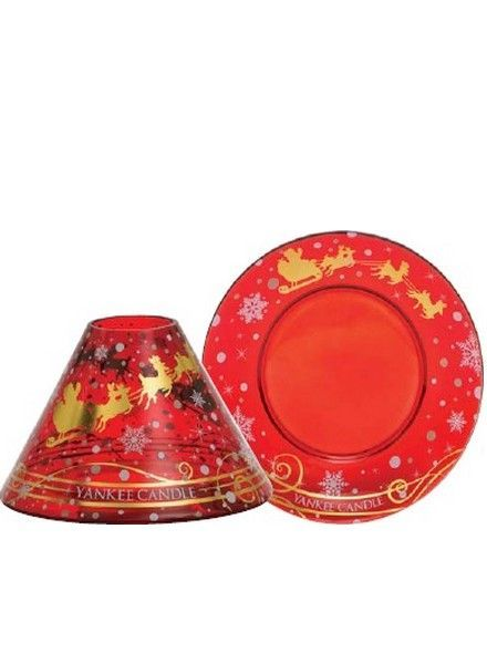 Yankee Candle Santa Sleigh Large Shade and Tray