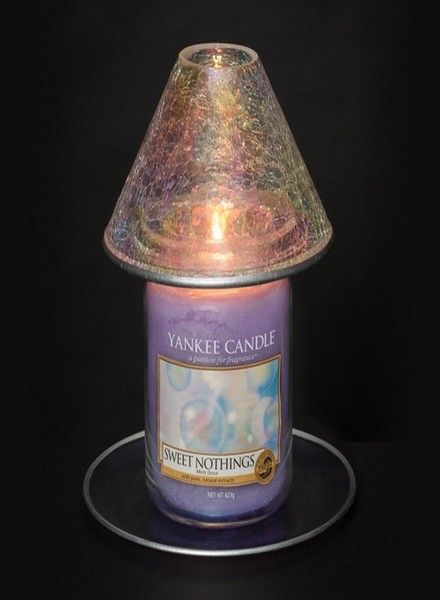 Yankee Candle Yankee Candle Pearlescent Crackle Large Shade & Tray Set