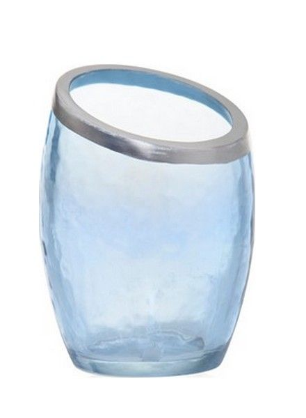 Yankee Candle Yankee Candle Pearlescent Crackle Blue Votive Houder