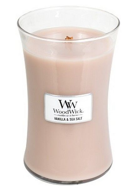 Woodwick Large Vanilla & Sea Salt