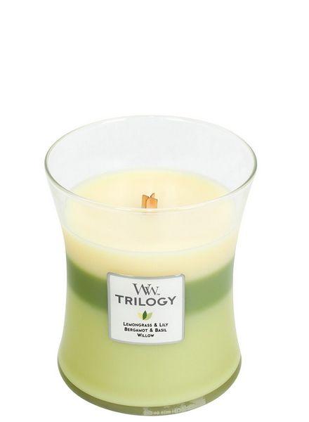 Woodwick WoodWick Garden Oasis Trilogy Medium Candle