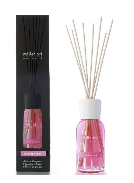 Millefiori Milano  Millefiori Milano Jasmine Ylang Geurstokjes Natural 100 ml