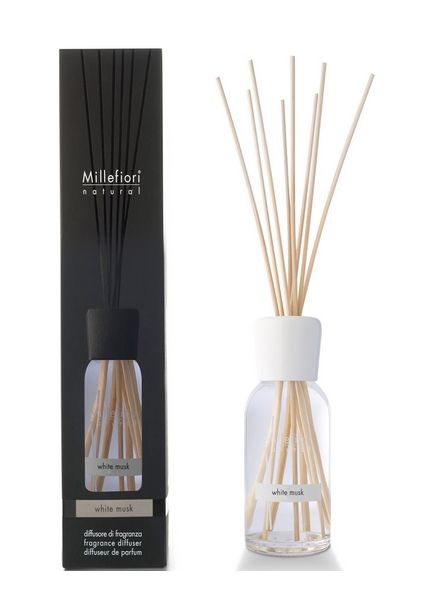 Millefiori Milano  Millefiori Milano White Musk Geurstokjes Natural 100ml