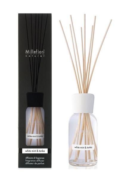 Millefiori Milano  Millefiori Milano White Mint & Tonka Geurstokjes Natural 100ml