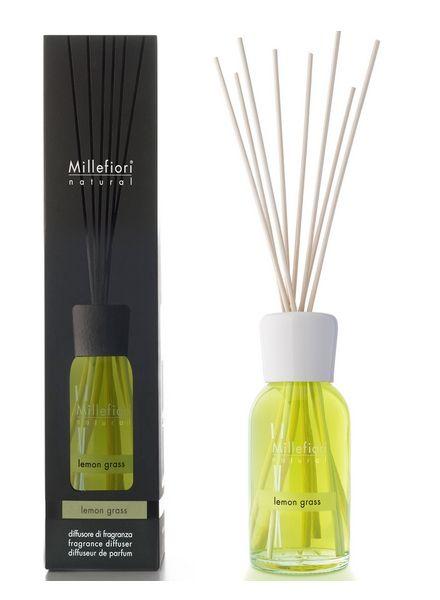 Millefiori Milano  Millefiori Milano Lemon Grass Geurstokjes Natural 250ml