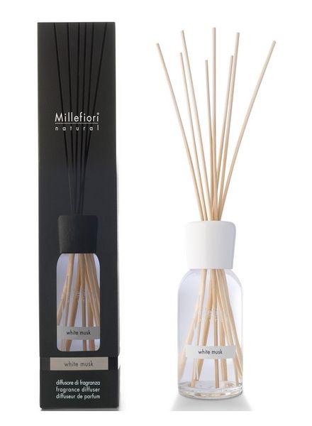 Millefiori Milano  Millefiori Milano White Musk Geurstokjes Natural 250ml