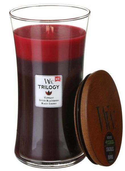 Woodwick WoodWick Sun Ripened Berries Trilogy Large Candle