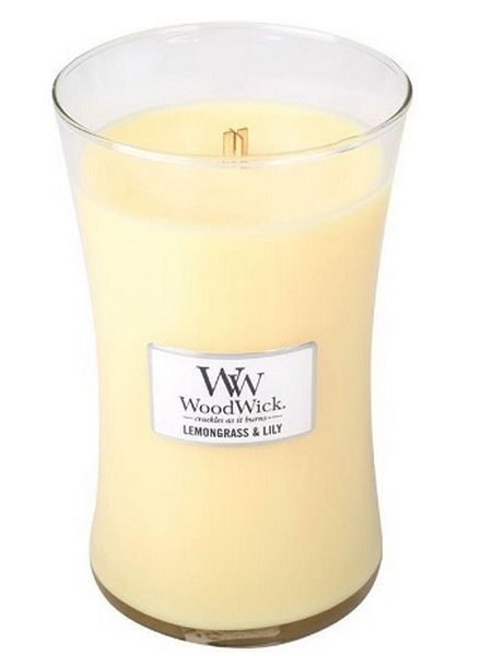 Woodwick Large Lemongrass & Lily