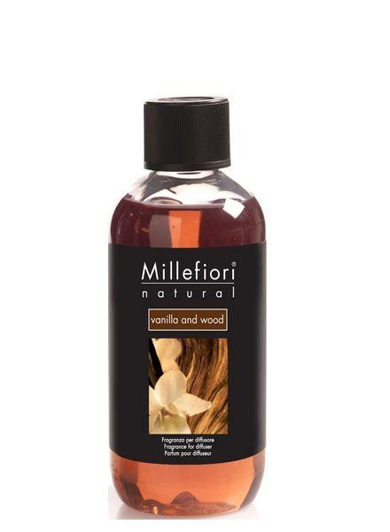 Millefiori Milano  Millefiori Milano Vanilla & Wood Navulling Natural 250ml
